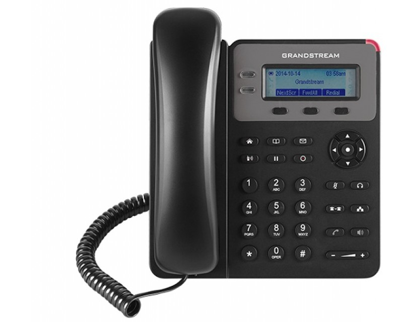 Grandstream GXP1610 Basic IP Phone - 132x48 LCD, 1 SIP account, 2 line keys, 3-way conferencing, Dual-switched 10/100 mbps ports