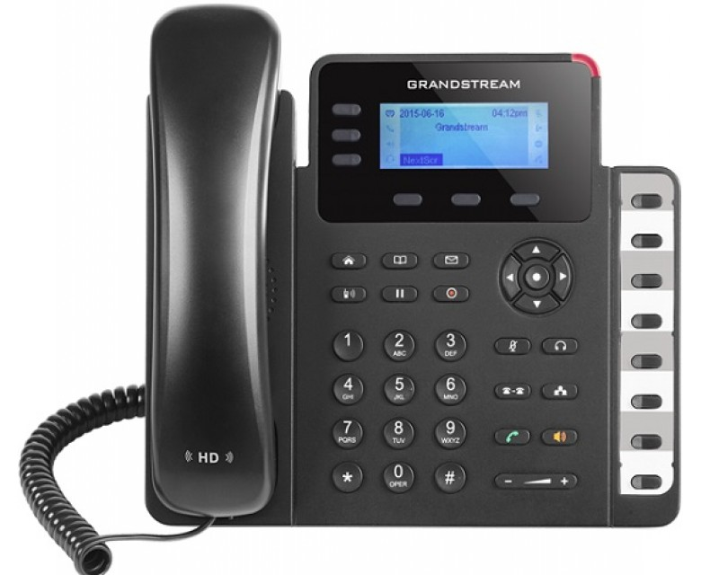 Grandstream GXP1630 Basic IP Phone - PoE, 132x64 LCD, 3 SIP accounts, 3 line keys, 4-way conferencing
