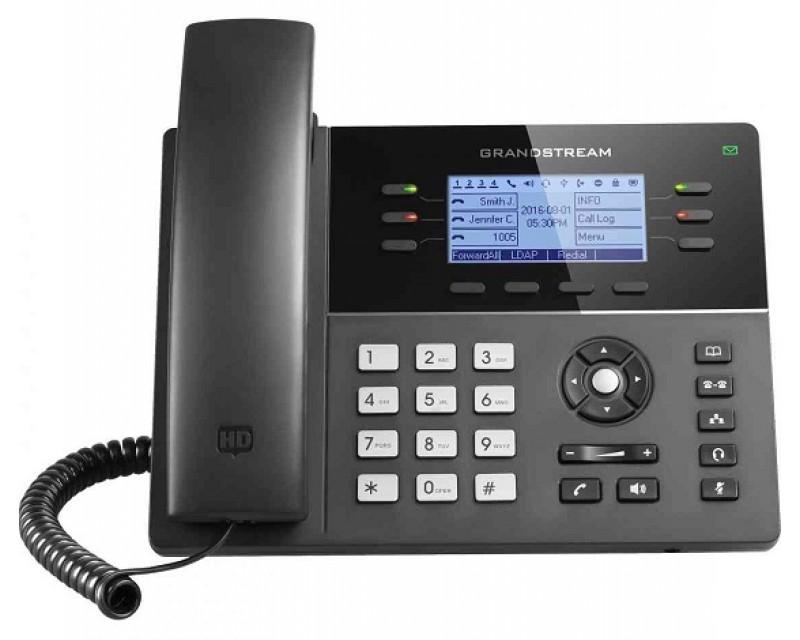 Grandstream GXP1760 Mid-Range IP Phone - PoE 200x80 LCD, 6 lines, Dual Gigabit Ports, 4 program keys