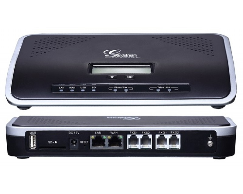 Grandstream UCM6202 - 2 FXS, 2FXO, 500 Users, 30 Concurrent VoIP Calls, Dual-Core 1GHz 1GB RAM