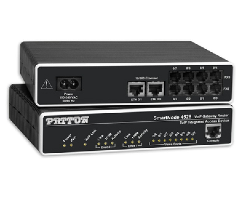 Patton SmartNode 4528 8-Port VoIP Router - 8 FXS