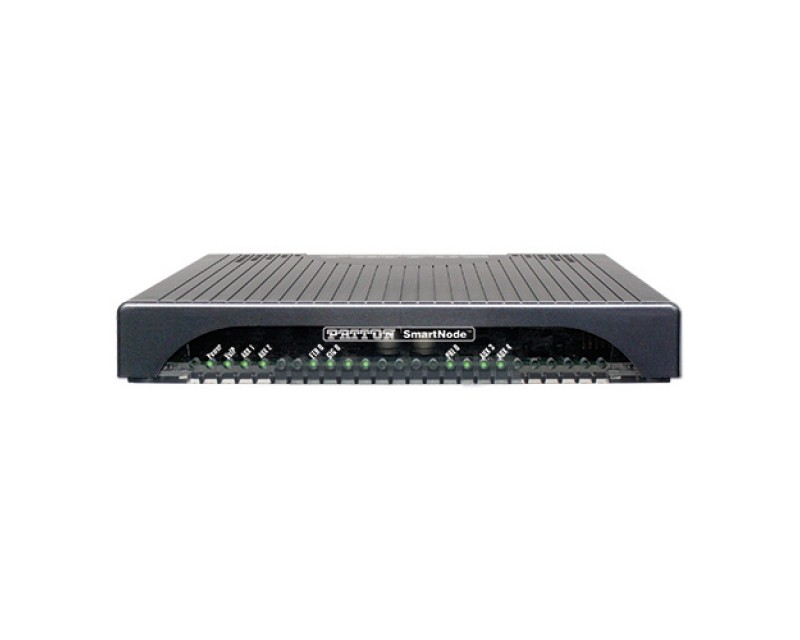 Patton SmartNode 4171 - 2x Gig Ethernet, 2 E1/T1 PRI, 30 VoIP Calls not upgreadable, 15 SIP-SIP Calls, High Precision Clock