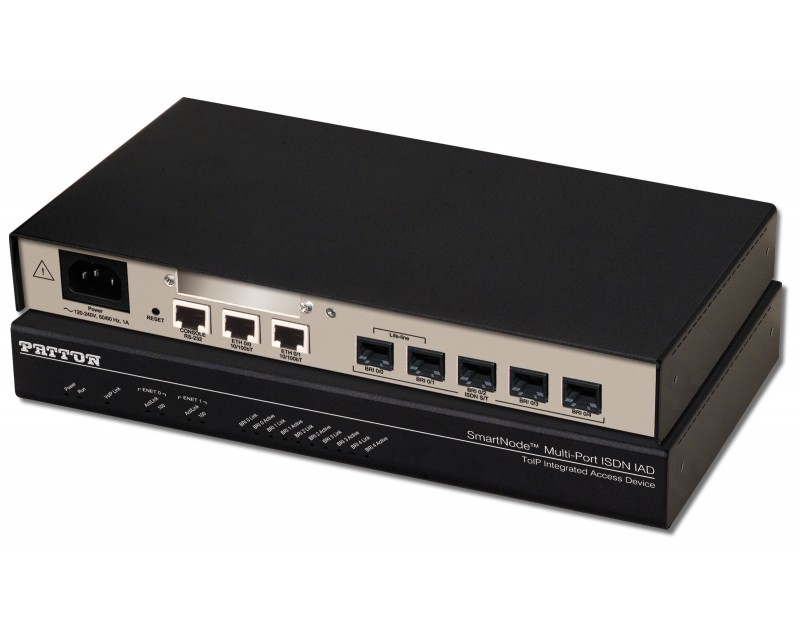 Patton SmartNode 4639 - 5 BRI VoIP Router with High Precision Clock